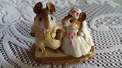Wee Forest Folk M-67 Wedding Mice SPECIAL COLOR Box/ MINT