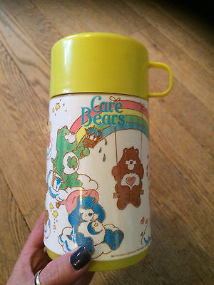 Vintage Care Bear Thermos (Aladdin), Yellow