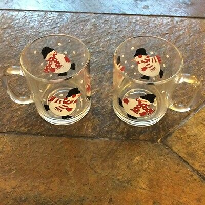 Crate and Barrel snowmen Christmas cups