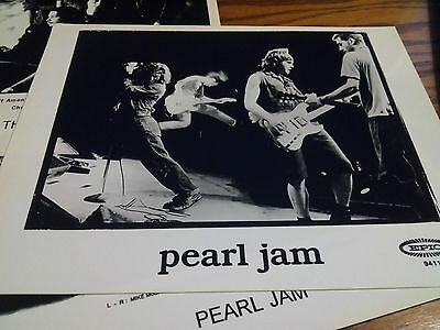 Pearl Jam Promo Photo Early Live Stage Shot Kerrang Hard Rock Alternative