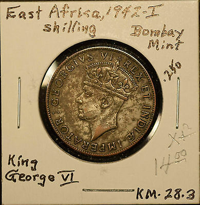 East Africa 1942 Shilling KM#28.3 Extra Fine