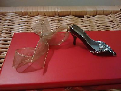 Past Time Miniature Shoe Ornament With Ribbon