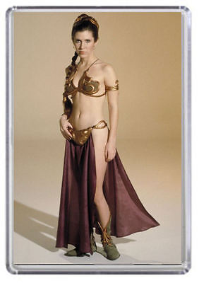 Carrie Fisher Princess Leia Fridge Magnet 01