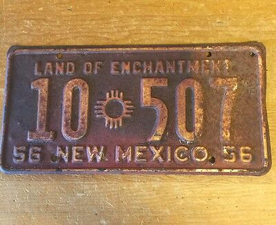 New Mexico License Plate 1956