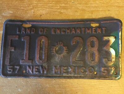 New Mexico License Plate 1957