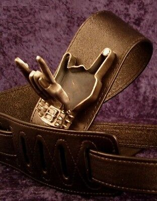 REBEL GUITAR STRAP METAL FIST PICK BOX - SYNYSTER GATES of AVENGED SEVENFOLD