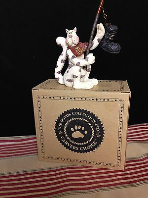 1999 Boyds Collection Percy Tunabreath..Got Fist? Resin Fishing Cat with Box