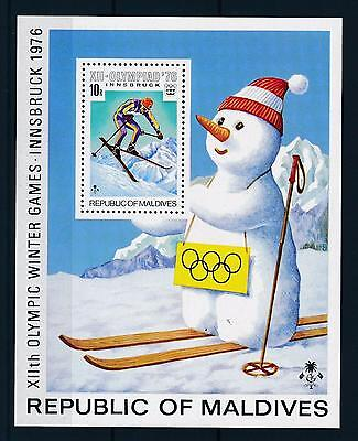 [36727] Maldives 1976 Olympic games Innsbruck Snow man Perforated SS MNH
