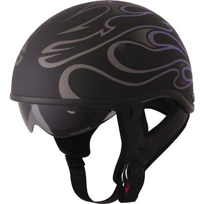 Fly Racing .357 Flame Half Helmet Motorcycle Helmet
