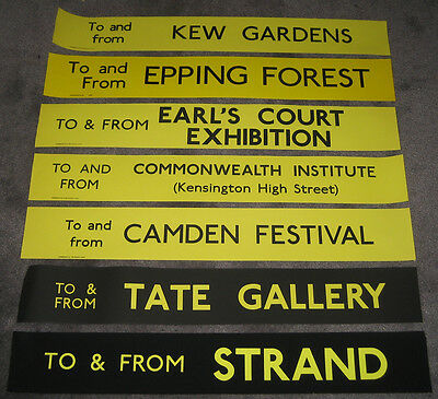 London Transport RT To & From Advertising Slips (set of 7) - FREE UK POSTAGE