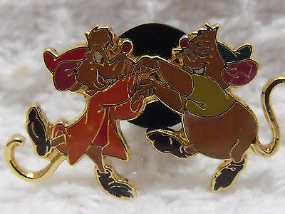 2002 Official Authentic Disney Trading Pin Cinderella's Mice Jaq and Gus Dancing