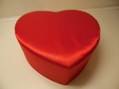 Victoria's Secret Red Satin  Heart Shaped  GIFT BOX Trinket Jewelry