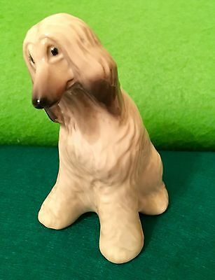 Afghan hound Porcelain figurine Souvenir from Russia
