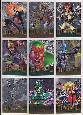 1995 MARVEL METAL PARALLEL SILVER FLASHER CARDS - PICK 3 - Masterpieces Universe
