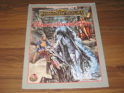 AD&D 2nd Edition Forgotten Realms The Return of Randal Morn 1995 TSR 9488 SC VG