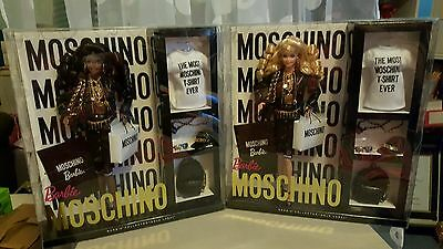 2015 Moschino Barbie Set Caucasian and African American NRFB