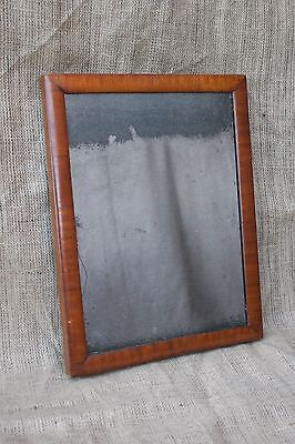 Antique 18th century walnut framed foxed distressed mirror