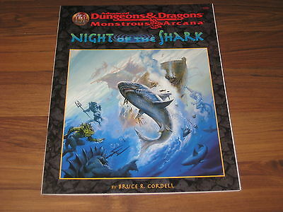 AD&D 2nd Monstrous Arcana Night of the Shark Adventure 1997 TSR 9550 TOP
