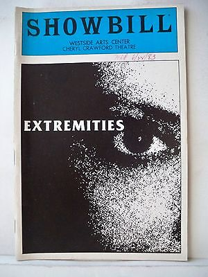 EXTREMITIES Playbill FARRAH FAWCETT / PRISCILLA LOPEZ / JAMES RUSSO NYC 1983