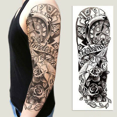 Graphic Temporary Tattoo Sticker Full Arm Sticker Decal Large Pattern