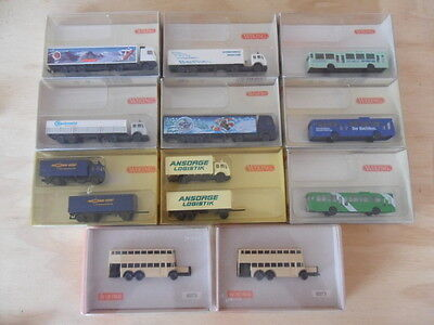 N scale model trucks and buses  all NEW - Relocation Sale