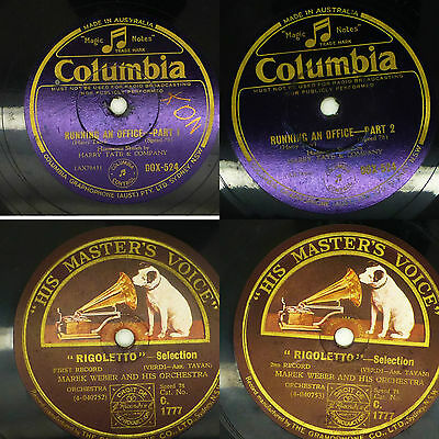 74x GRAMOPHONE RECORDS 78rpm POPULAR SONGS His Masters Voice HMV Huge Collection