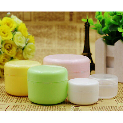 5pcs Empty Makeup Jar Pot Travel Face Cream/Lotion/Cosmetic Container Hot GS