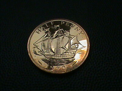GREAT  BRITAIN    1/2 penny   1970    PROOF