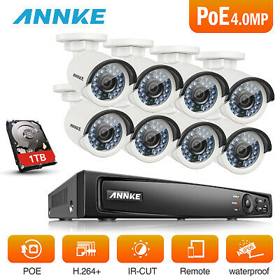 ANNKE 1TB HDD 8CH 6MP NVR POE Video ROI 4MP Home Network Security Camera System
