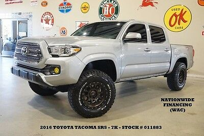 2016 Toyota Tacoma SR5 4X2 LIFTED,BACK-UP CAM,SCS WHEELS,7K,WE FINANC 16 TACOMA DOUBLE CAB SR5 4X2,LIFTED,BACK-UP CAM,17IN SCS WHLS,7K,WE FINANCE!!