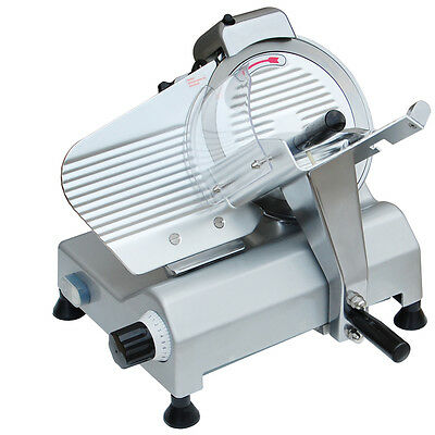 """240w 254mm 10"""" Commercial Electric Blade Meat Slicer Cutter Food Cheese Veggies"""