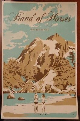 "Band of Horses - Why Are You Ok? Promotional Poster. 11""x17"""