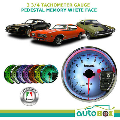 Tachometer Gauge 3 3/4 in. Pedestal Memory Tacho by Autotecnica 7 Colour display