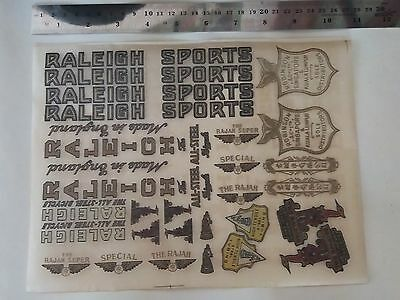 1 Sheet RALEIGH SPORT BIG Transfer Decal Sticker For 2 Raleigh Vintage Bicycle