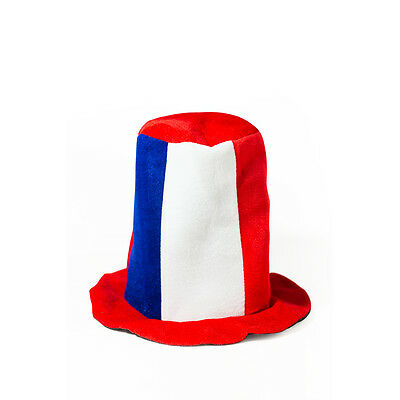 Destockage / Lot 100 chapeaux supporters football bleu blanc rouge