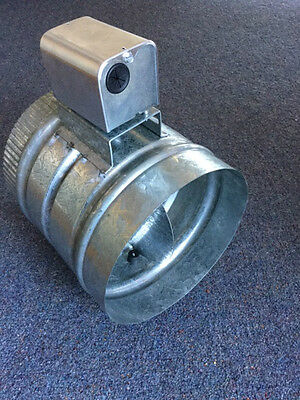 "MOTORISED ZONE DAMPER 8"" 200mm EMAILAIR VD00325 24VAC 5W GALVANISED STEEL"