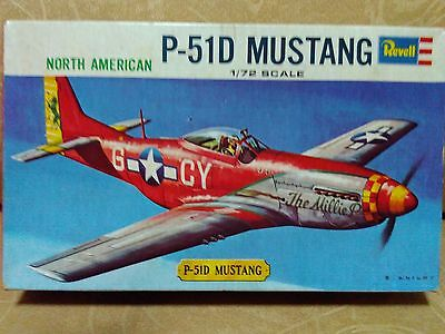 Rare Vintage Revell 1/72 P-51D Mustang