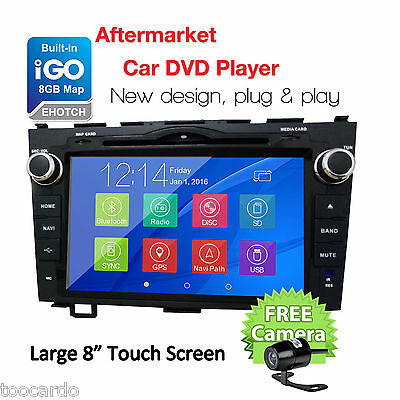 For Honda CRV 2007-2011Car Stereo Radio DVD Player GPS Navigation In Dash 8'' HD