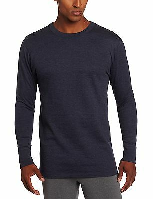 Duofold Men's Mid Weight Wicking Thermal Shirt, Navy, Large