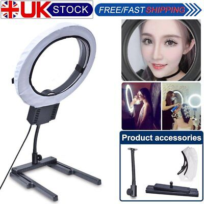 Fotoconic 40W Ring Light with Table H-Stand + Diffuser Makeup Beauty Photo Video