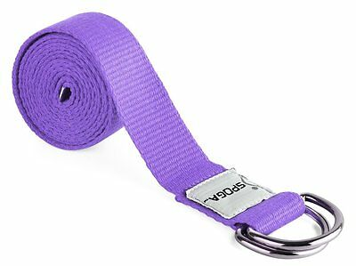 Spoga Yoga Straps, 6 Foot with D-Ring Buckle, Purple