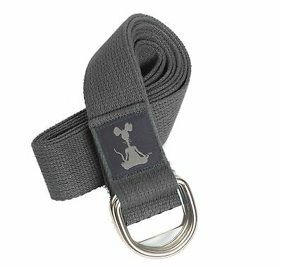 YogaRat 8-Feet Yoga Strap, Grey