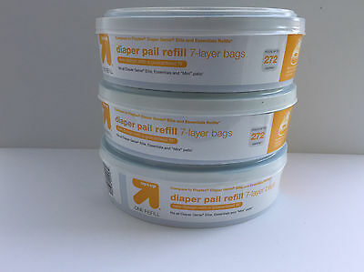 UP & UP Diaper Pail Refill 7-Layer Bags - 3PK