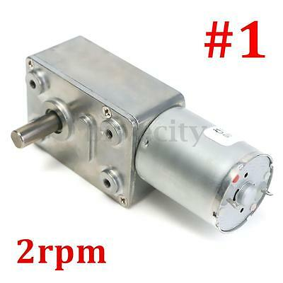 JGY370 2RPM Reversible High Torque Turbo Worm Geared Motor DC 12V Reduction