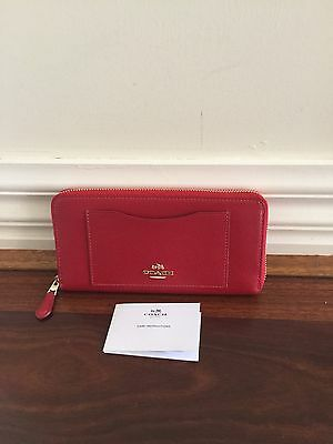 Brand New 100% Authentic Coach Stunning Colour Leather Wallet Rrp $470