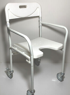 BR NEW Shower Bath Chair Stool Non Slip Lightweight Rustfree Alloy