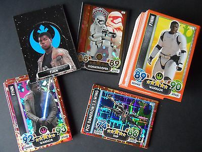 Topps star wars attax extra force awakens complete 138 Full card set