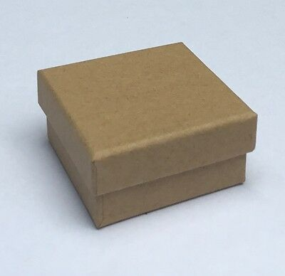 Kraft natural small earring gift boxes - Pack of 20 - 50 x 50 x 25mm