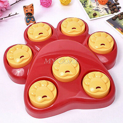 Pet Dog Treat Toy Hound Paw Games Food Dispensing Hide Puzzle Training Activity