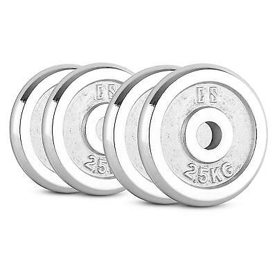 CAPITAL SPORTS CP 10kg Set disques haltères 4x 2,5kg 30mm musculation - argenté